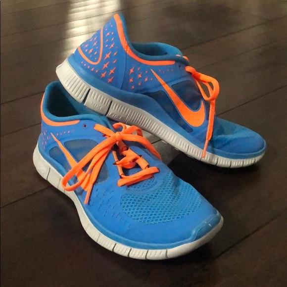 Orange Nike Free Run 5 Sneakers | Poshmark